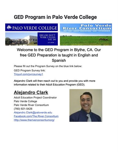 GED Program in Palo Verde College